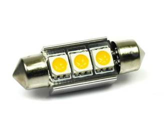 C5W 3 SMD 5050 CAN BUS Warm White