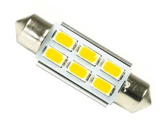 C5W 6 SMD 5630 CAN BUS Warm White