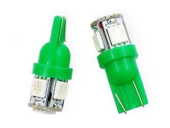 Car LED Bulb T10 W5W 5 SMD 5050 Green