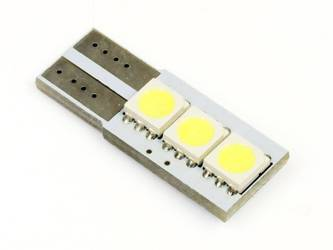 Car LED Bulb W5W T10 3 SMD 5050 CAN BUS Side-LED