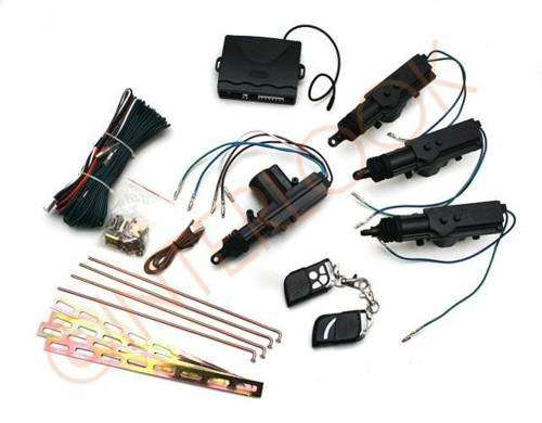 Central locking kit - control unit with 2 pilots and 4 actuators