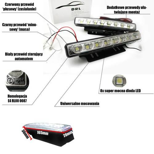 DRL 02 / Daytime Running Lights / SMD 3528