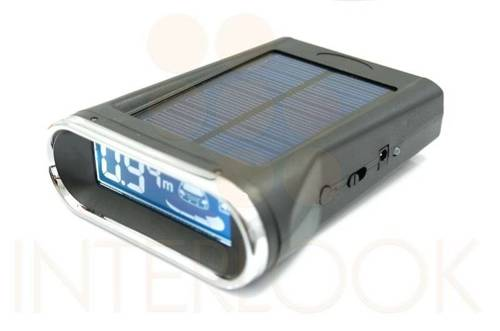 Parking sensors with  solar display
