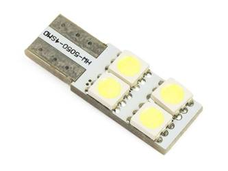 Auto LED-Birne W5W T10 4 SMD 5050 CAN BUS Side-LEDs
