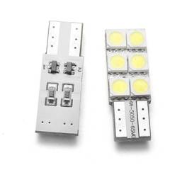 Auto LED-Birne W5W T10 6 SMD 5050 CAN BUS Side-LEDs