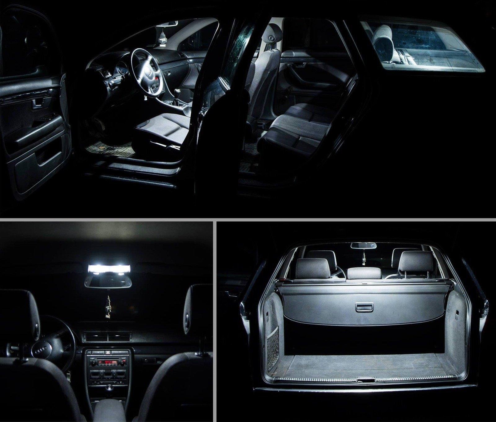 Zestaw żarówek Led Do Oświetlenia Wnętrza Audi A4 B7 Avant
