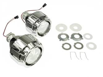 "Bixenon Lens with Adapters and Shrouds ""E46"" Set"