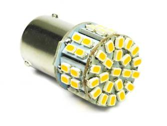 Car LED Bulb BA15S 50 SMD 1206 Warm White