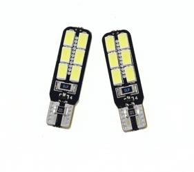 Car LED Bulb T10 W5W 12 SMD 5630 CAN BUS Side-LED