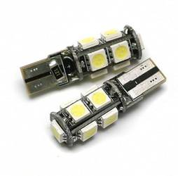 Car LED Bulb T10 W5W 9 SMD 5050 CAN BUS