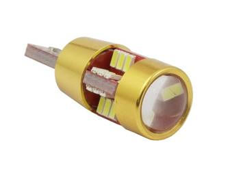 Car LED Bulb T10 W5W T10 27 SMD 3014 CAN BUS GOLD