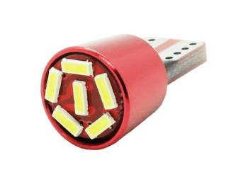 Car LED Bulb T10 W5W T10 6 SMD 3014 FRONT CAN BUS RED