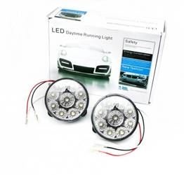 DRL 04 / Round ø70mm Daytime Running Lights with FLUX diodes