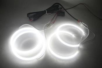 Angel-Eyes SMD LED Kit for BMW E46 sedan facelift, with lens