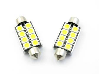 Car LED Bulb Festoon C5W 8 SMD 5050 CAN BUS