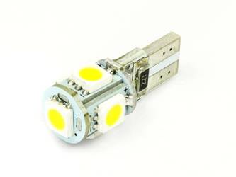 Car LED Bulb T10 W5W 5 SMD 5050 CAN BUS Warm white