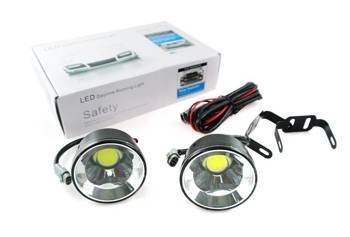 DRL 18 PREMIUM / Round  ø70mm Daytime Running Lights with COB diodes / 800 lm