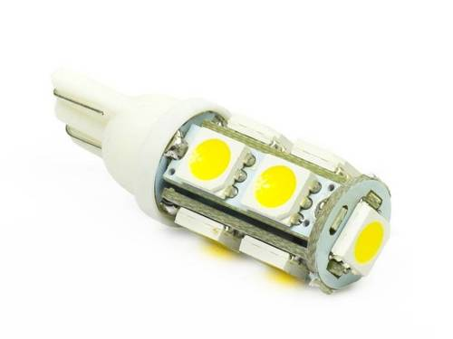 Car LED Bulb T10 W5W 9 SMD 5050 Warm White