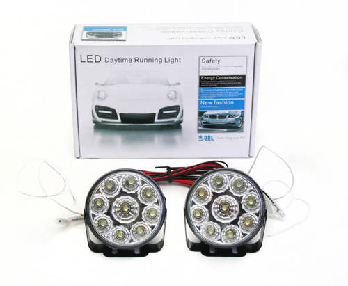 DRL 04 PREMIUM / Round ø70mm Daytime Running Lights with HIGH POWER LED
