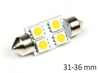 Auto LED-Birne C5W 4 SMD 5050 WARM WHITE