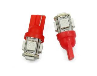 Auto LED-Birne T10 W5W 5 SMD 5050 Rot
