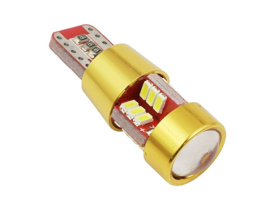 auto led birne t10 w5w t10 27 smd 3014 can bus gold interlook. Black Bedroom Furniture Sets. Home Design Ideas