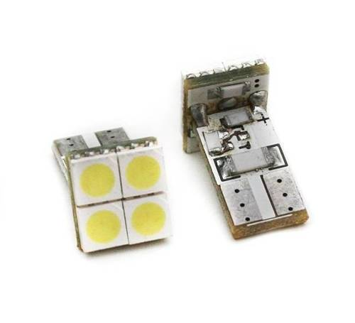 Auto LED-Birne W5W T10 4 SMD 5050 CAN BUS FRONT
