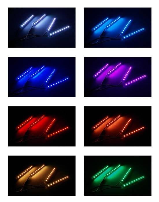 Oświetlenie Led Rgb Do Wnętrza Kabiny Samochodu Z Pilotem
