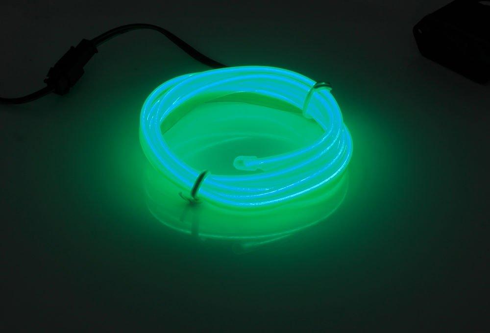 Zestaw - Światłowód Ambient Light EL Wire z inverterem 12V | 4 metry ...